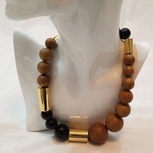 Michael Kors Wooden Mixed-Bead Necklace